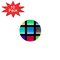 Colorful Background Squares 1  Mini Magnet (10 Pack)