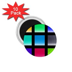 Colorful Background Squares 1 75  Magnets (10 Pack)