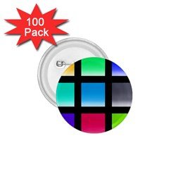 Colorful Background Squares 1 75  Buttons (100 Pack)