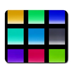 Colorful Background Squares Large Mousepads