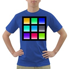 Colorful Background Squares Dark T-Shirt