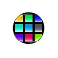 Colorful Background Squares Hat Clip Ball Marker