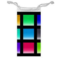 Colorful Background Squares Jewelry Bag