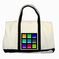 Colorful Background Squares Two Tone Tote Bag