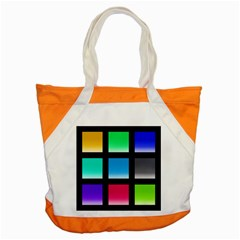 Colorful Background Squares Accent Tote Bag