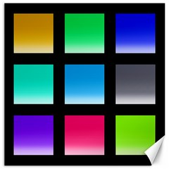 Colorful Background Squares Canvas 12  x 12