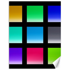 Colorful Background Squares Canvas 18  x 24