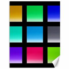 Colorful Background Squares Canvas 36  x 48