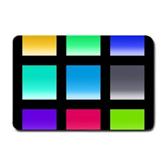 Colorful Background Squares Small Doormat