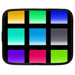 Colorful Background Squares Netbook Case (Large)
