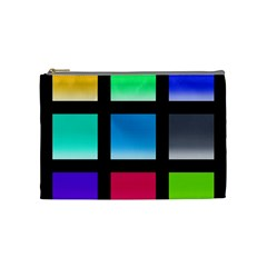 Colorful Background Squares Cosmetic Bag (Medium)