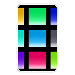 Colorful Background Squares Memory Card Reader