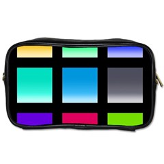 Colorful Background Squares Toiletries Bags 2-Side