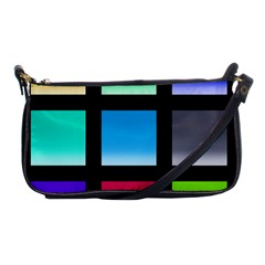 Colorful Background Squares Shoulder Clutch Bags