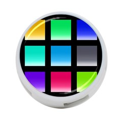 Colorful Background Squares 4-Port USB Hub (Two Sides)