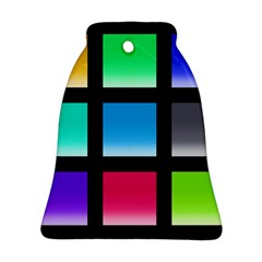 Colorful Background Squares Bell Ornament (Two Sides)