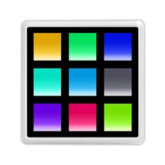 Colorful Background Squares Memory Card Reader (square)