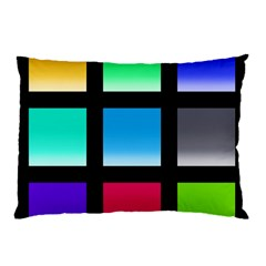 Colorful Background Squares Pillow Case (two Sides)