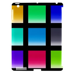 Colorful Background Squares Apple iPad 3/4 Hardshell Case (Compatible with Smart Cover)