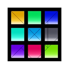 Colorful Background Squares Acrylic Tangram Puzzle (6  x 6 )