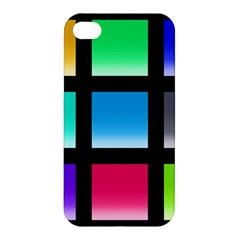 Colorful Background Squares Apple iPhone 4/4S Premium Hardshell Case