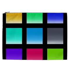 Colorful Background Squares Cosmetic Bag (XXL)