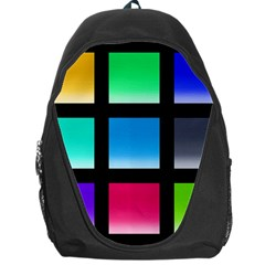Colorful Background Squares Backpack Bag