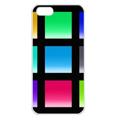 Colorful Background Squares Apple Iphone 5 Seamless Case (white)