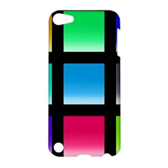 Colorful Background Squares Apple iPod Touch 5 Hardshell Case