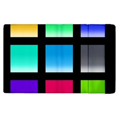 Colorful Background Squares Apple Ipad 2 Flip Case
