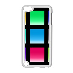 Colorful Background Squares Apple iPod Touch 5 Case (White)