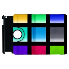 Colorful Background Squares Apple iPad 3/4 Flip 360 Case