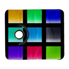 Colorful Background Squares Galaxy S3 (Flip/Folio)