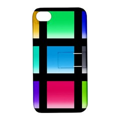 Colorful Background Squares Apple iPhone 4/4S Hardshell Case with Stand