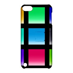 Colorful Background Squares Apple iPod Touch 5 Hardshell Case with Stand