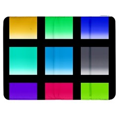 Colorful Background Squares Samsung Galaxy Tab 7  P1000 Flip Case