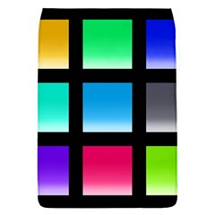 Colorful Background Squares Flap Covers (L)
