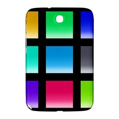 Colorful Background Squares Samsung Galaxy Note 8 0 N5100 Hardshell Case