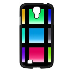Colorful Background Squares Samsung Galaxy S4 I9500/ I9505 Case (Black)