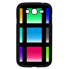 Colorful Background Squares Samsung Galaxy Grand DUOS I9082 Case (Black)