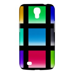 Colorful Background Squares Samsung Galaxy Mega 6.3  I9200 Hardshell Case