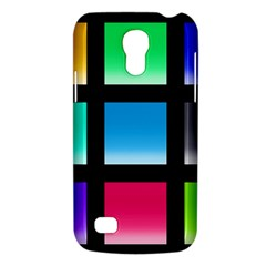Colorful Background Squares Galaxy S4 Mini