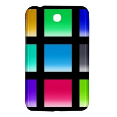 Colorful Background Squares Samsung Galaxy Tab 3 (7 ) P3200 Hardshell Case