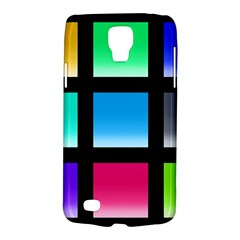 Colorful Background Squares Galaxy S4 Active