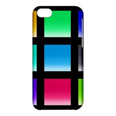 Colorful Background Squares Apple iPhone 5C Hardshell Case