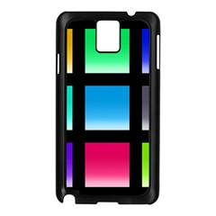 Colorful Background Squares Samsung Galaxy Note 3 N9005 Case (Black)