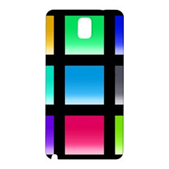 Colorful Background Squares Samsung Galaxy Note 3 N9005 Hardshell Back Case
