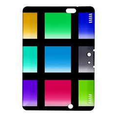Colorful Background Squares Kindle Fire HDX 8.9  Hardshell Case
