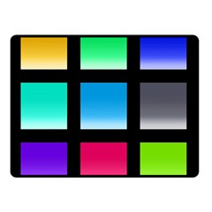 Colorful Background Squares Double Sided Fleece Blanket (small)