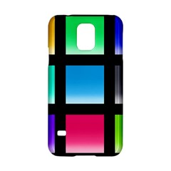 Colorful Background Squares Samsung Galaxy S5 Hardshell Case